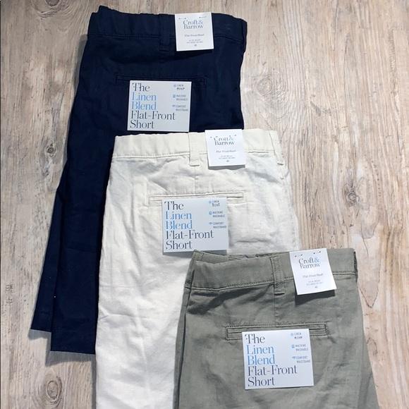 croft & barrow Other - 3 Pair Croft & Barrow Linen Blend Shorts